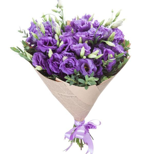 Букет Фиолетовых Эустом