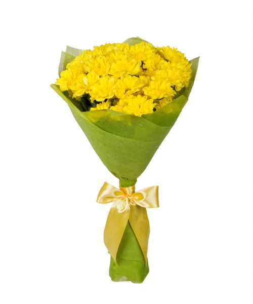 Bouquet of 11 Yellow Chrysanthemum